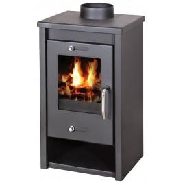 Wood Burning Stove 7 kW Fireplace Slim Model Top Flue Low Emissions BlmSchV 2