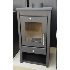 Wood Burning Stove 7-11 kW Fireplace Slim Model Top Flue Low Emissions BlmSchV 2