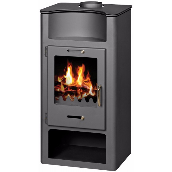Wood Burning Stove 9-14 kW Solid Fuel Low Emissions Wood Storage Niche DIN Plus