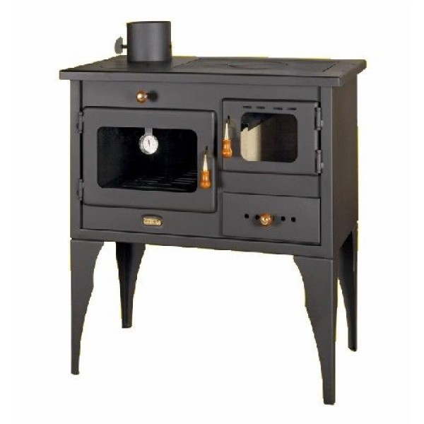 WOOD BURNING STOVE COOKING WITH CAST IRON TOP 10KW LEFT