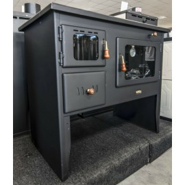 Wood Burning Cooking Stove with Integral Boiler Prity W 12 PM