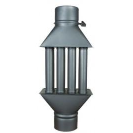 Chimney Woodburning Stove Radiator Heatexchanger with Valve 4 Tubes