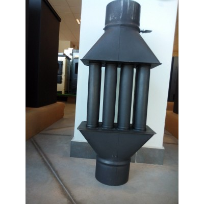 Chimney Woodburning Stove Radiator Heatexchanger with Valve 4 Tubes