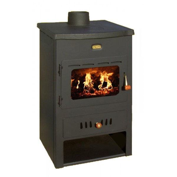 Wood Burning Stove Cast Iron Top Water Jacket Fireplace Back Boiler Prity K1CPW8