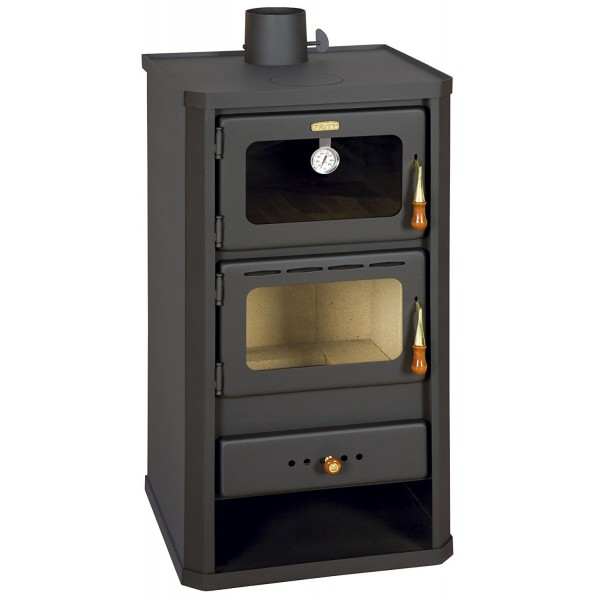 Wood Burning Stove with Oven Cooking Stove Log Burner 12 kw Prity FM