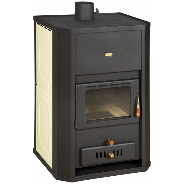 WoodBurning Stove Integral Boiler Fireplace Log 29kw Prity WD W24