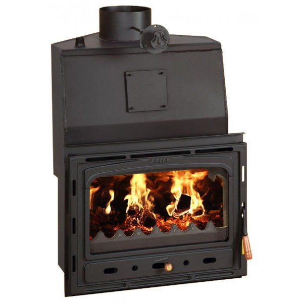 Fireplace for Central Heating Inset Insert Corner Firebox with Boiler 25kw PrityACW20