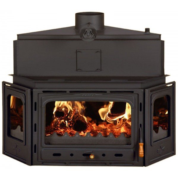 Firebox with Built in Boiler Fireplace Cast Iron Wood Burning Fireplace Prity ATC W20 Corner Model
