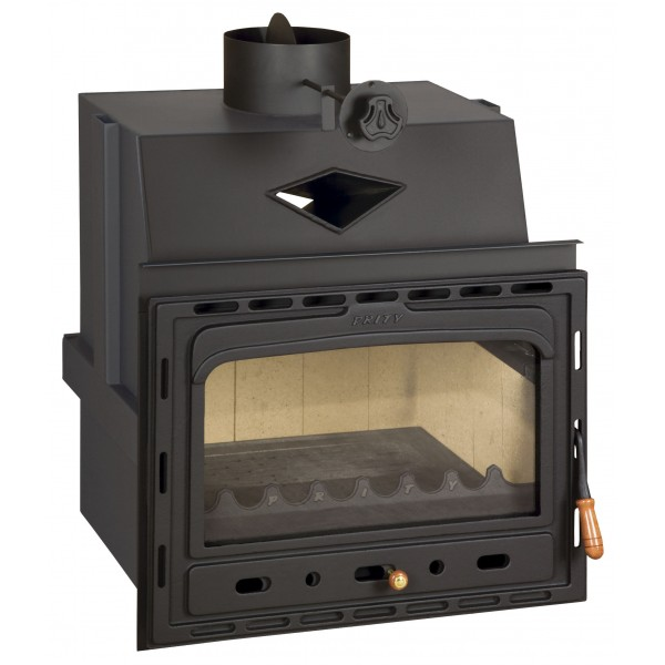 Insert Solid Fuel Fireplace Cast Iron Multi Fuel Built in Wood Burning Stove Prity C