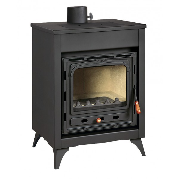 Wood Burning Stove Cast Iron Door Fireplace Log Burner Legs 15kw Prity CMR