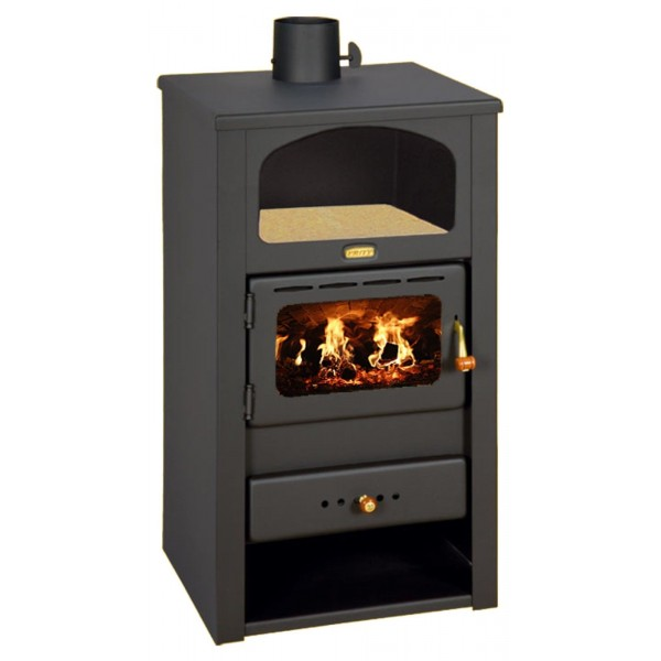 Wood Burning Stove Multi Fuel Fireplace Log Burner with Niche PrityK2 with niche