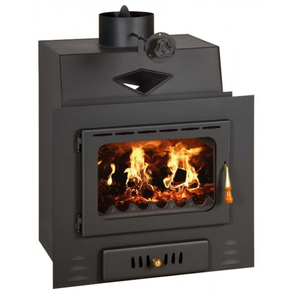 Wood Burning Fireplace Insert Modern Multi Fuel Built in Stove Prity M