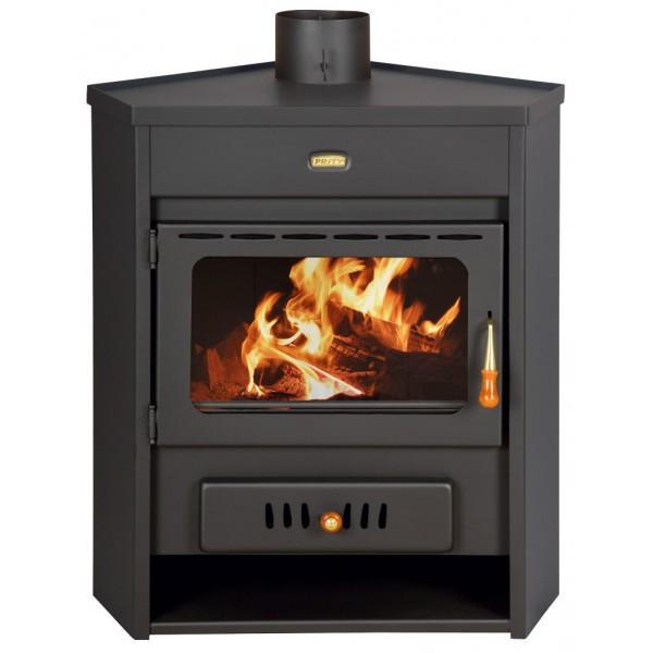 Wood Burning Stove Corner Model Fireplace Log Burner Solid Fuel Prity AM 12kw