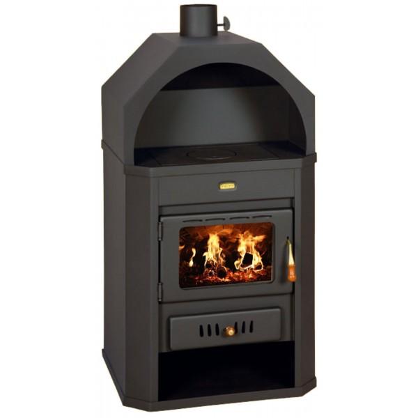 Wood Burning Stove Fireplace Log Burner Niche Multi Fuel 15kw Prity made in EU