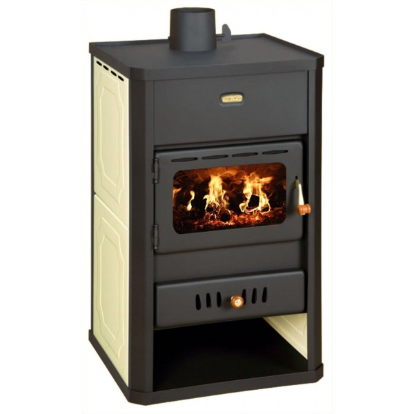 Wood Burning Stove with Boiler Solid Fuel Fireplace for Centrral Heating Water Jacket Prity S1 W10