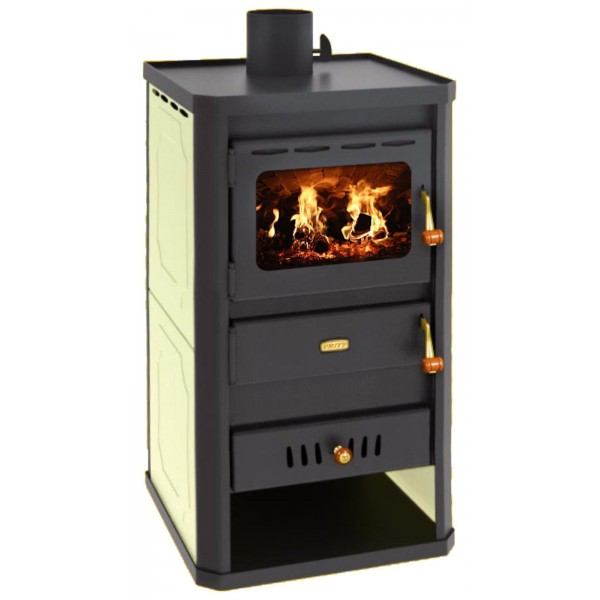 Wood Burning Stove Boiler Solid Fireplace Central Heating Prity S2W10 Colored Sidde Panels