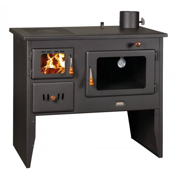 Wood Burning Cooker Oven Cast Iron Top Boiler Solid Fuel Stove for Central Heating