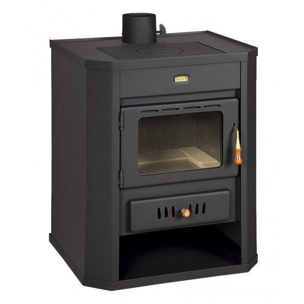 Wood Burning Stove Fireplace Multi Fuel Log Burner Ceramic Glass 15kw Prity WD