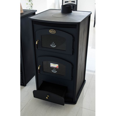 Wood Burning Stove with Oven Log Burner Cooking Fireplace Solid Fuel 12kw