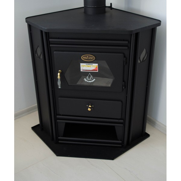 Wood Burning Stove Corner Model Fireplace Solid Fuel Log Burner PROMETEY 8kw