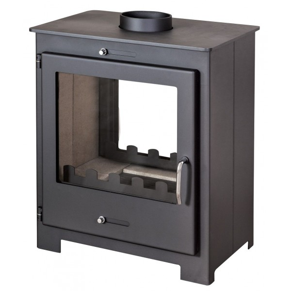 Wood Burning Stove 18 kW Fireplace 2 Glasses Top Flue Low Emissions 2 Windows
