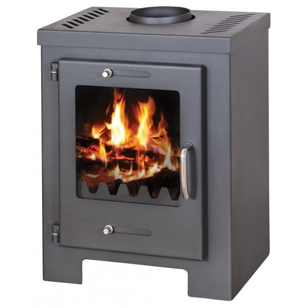 Wood Burning Stove 7 kW Fireplace Log Burner Top Flue Low Emissions BlmSchV-2