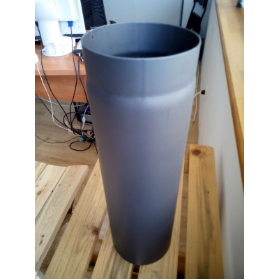 Chimney Flue Liner Rigid Pipe for Solid Fuel Diameter 150 mm - Length 0.5 meter