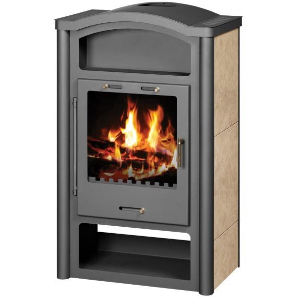 Wood Burning Stove 14-17 kW Integral Boiler Fireplace Low Emissions BlmSchV-2