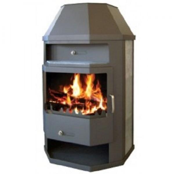 Wood Burning Stove Back Boiler Fireplace Multi Fuel Water Jacket 14kw TITAN ASBO