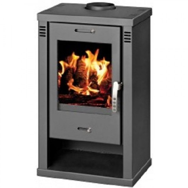 Wood Burning Stove Fireplace Log Burner Large Firebox 7.5-10.5 KW BImSchV 2