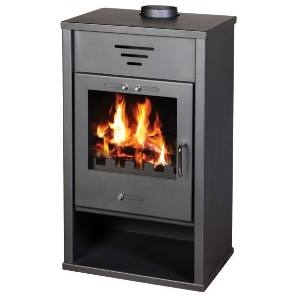 Wood Burning Stove 21 kW Integral Boiler Low Emissions BlmSchV-2 Top Flue