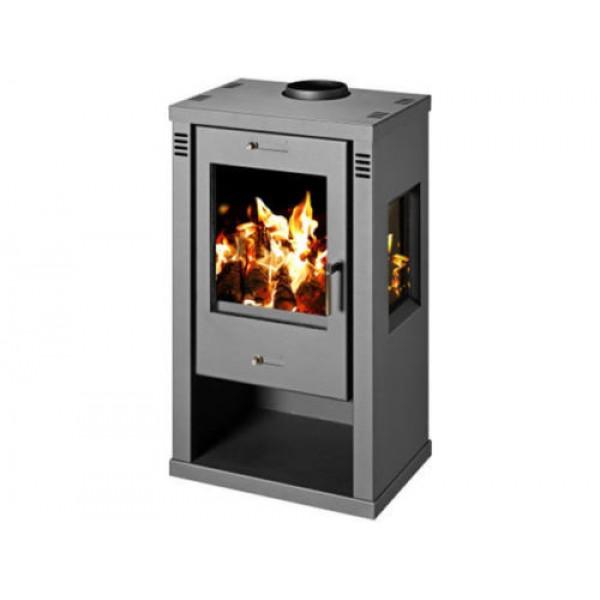 Wood Burning Stove Fireplace Log Burner Ceramic Glass 7.5-10.5 kw BImScV 2