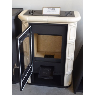 Wood Burning Stove Fireplace Log Burner Kachel Lining Top Flue Outlet 9kw