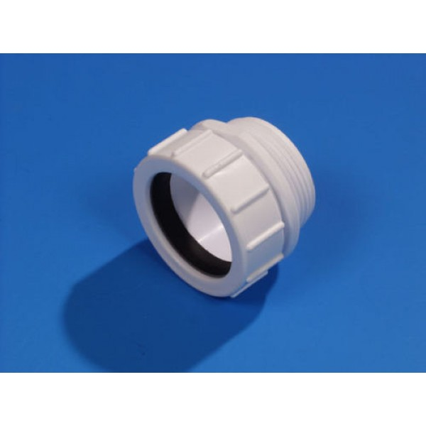 Wavin HepvO PP Polypropylene Straight Running Adapter WT Ø 32 mm, UK Standard
