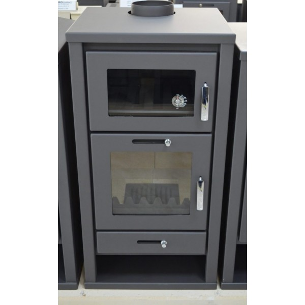 WOOD BURNING STOVE WITH OVEN 11-16 KW COOKING STOVE BIMSCHV2 MODEL DELUXE F