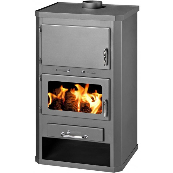 WOOD BURNING STOVE FOR CENTRAL HEATING SYSTEM 23-30 KW SOLID FUEL STOVE LOTOS MAX B25