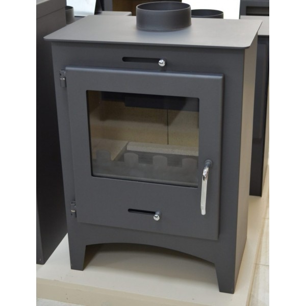 WOOD BURNING STOVE WITH TOP FLUE FIREPLACE 8-11 KW WOOD AND COAL BIMSCHV2 MODEL BORA