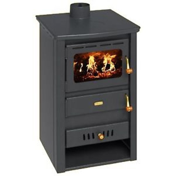 Wood Burning Stove Boiler Multi Fuel Fireplace Cast Iron Top Prity K22 CPW10