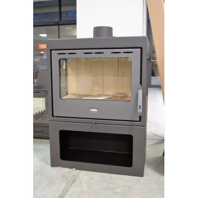 Wood Burning Stove Fireplace Three Glasses Log Burner Solid Fuel Prity PM3 13kw