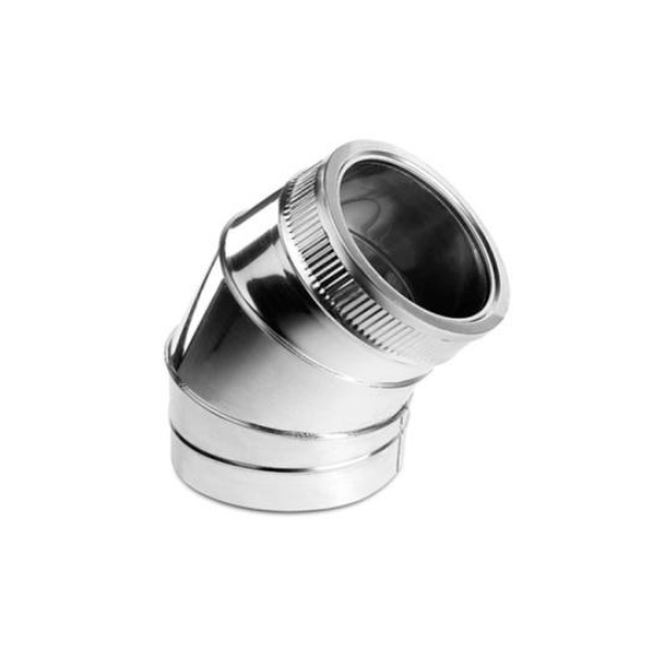 Stainless steel chimney flue Curve 45 Degree elbow Double Wall