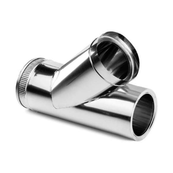 Stainless steel chimney flue  T 45 Degree shaped elbow Double Wall