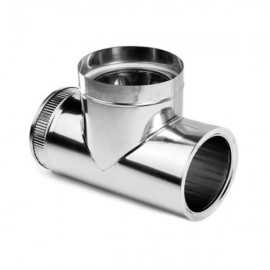 Stainless steel chimney flue T shaped elbow Double Wall