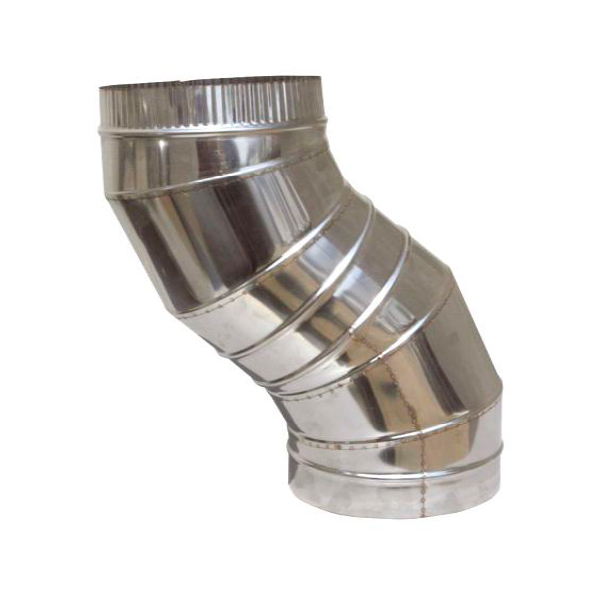 Stainless steel chimney flue S shaped elbow Single Wall