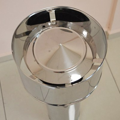 Chimney Cowl Stainless Steel Chimney Top Static Inox Type FRANCE Diameter 100 to 300 mm