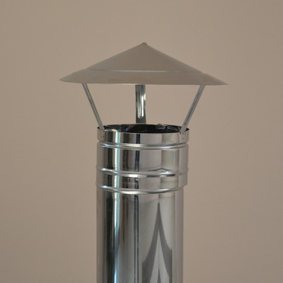 "CHIMNEY COWL Stainless Steel ""JAPAN TYPE"" Cap fit 80mm to 400mm"