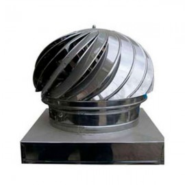 CHIMNEY SPINNER COWL Stainless Steel Spinning Wind Rotating Cap fit 17x17 to 50x50mm