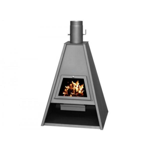 Woodburning Stove Fireplace Log Burner Solid Fuel Modern Top Flue 16-21 kw DELTA