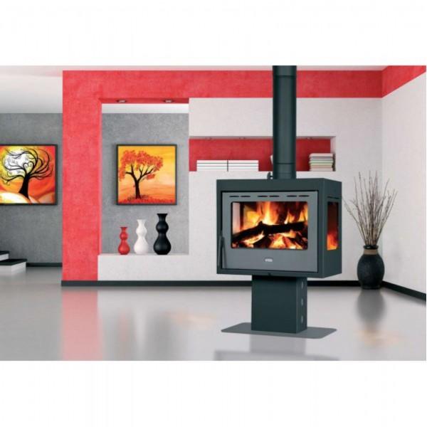 WoodBurning Stove Multi Fuel Fireplace Prity Panorama PM3L Log Burner 3 Glasses