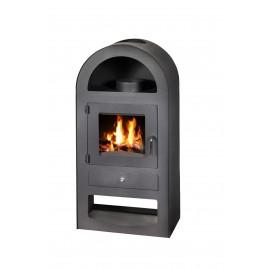Wood Burning Stove Solid Fuel Fireplace Modern Log Burner Niche 9-14 kW GALANT