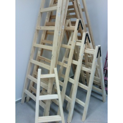 Wooden Step Ladder New Solid Wood Different Length Double Sided Access hand made